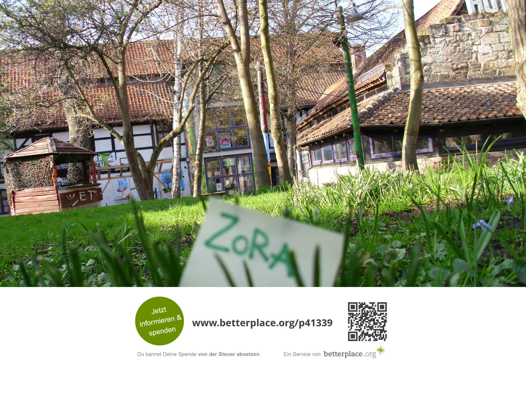 Unterstützt das Soziokulturelle Zentrum Zora in Halberstadt mit einer Spende!